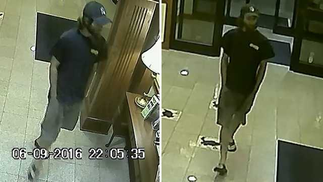 Surveillance image of indecent exposure suspect at Lexington Holiday Inn Express