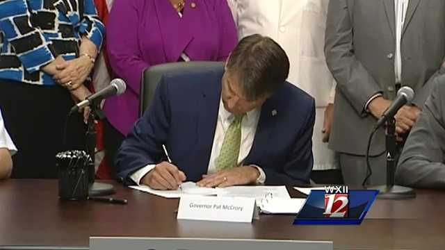 McCrory signed a bill in Greensboro Monday that grants the public easier access to naloxone.