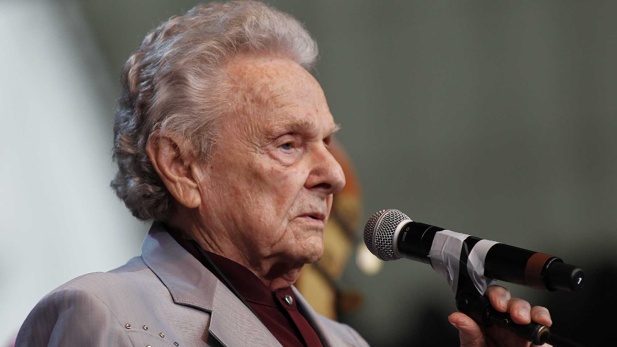 Ralph Stanley performs during the Bridge School Benefit concert in Mountain View, Calif., Sunday, Oct. 24, 2010.