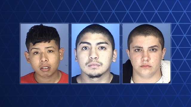 L-R: Josue Hernandez-Gongora, Alan Mendez and Trevor Ortiz