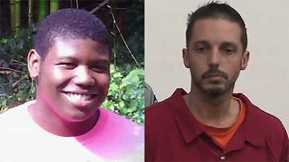 Kouren Thomas, left, and Chad Copley, right