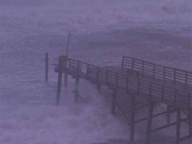 Nicole Ducouer and Stephanie Berzinski Atlantic Beach Pier was taken out by Hurricane Irene and in 2005 it was destroyed by Hurricane Ophelia...
