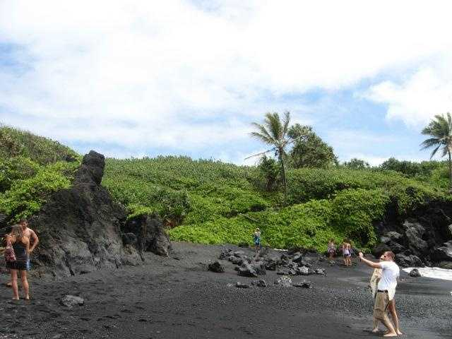 Incredible how the volcano lava turned the sand black. So many places for wedding guests to visit or for you to enjoy your honeymoon sightseeing.