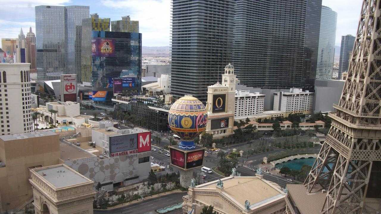 Views from the Paris Hotel and Casino rooms of Las Vegas is breathtaking.