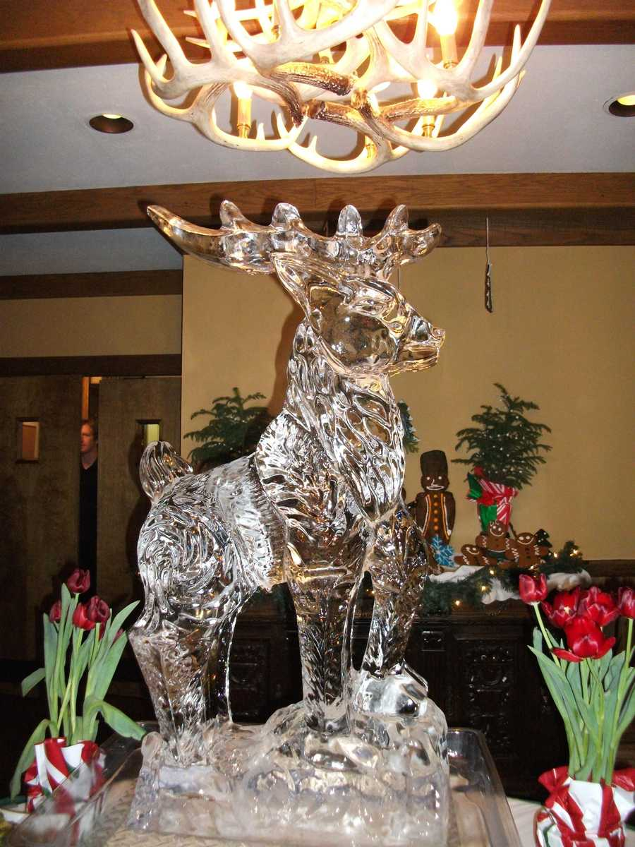 This ice sculpture can be used for the centerpiece on one of food bars at the reception. (Chetola Resort in Blowing Rock)