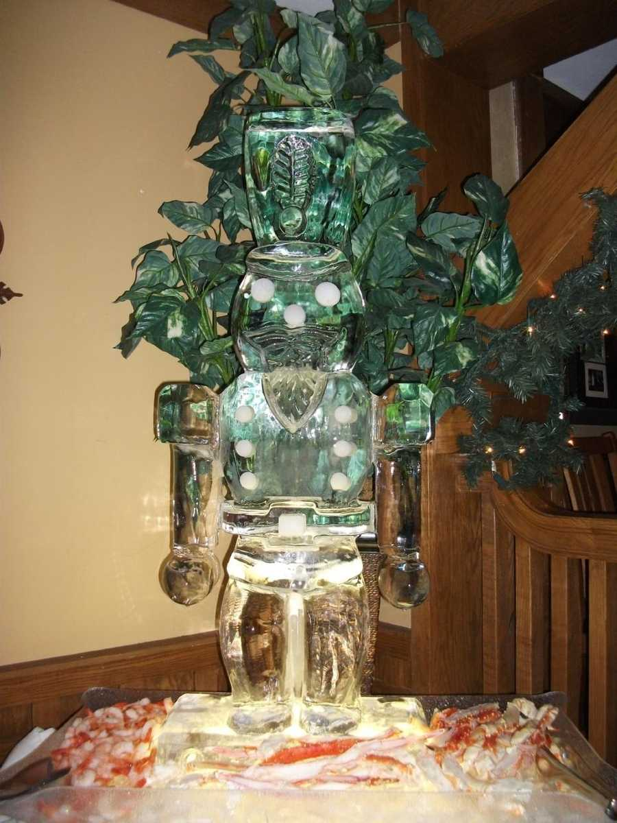 """This toy soldier makes a great Christmas """"Nutcracker"""" ballet theme for this seafood bar at the reception. (Chetola Resort at Blowing Rock)"""