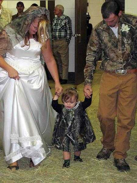 Everyone in the wedding party needs a little bit of camouflage. Think something old, something new, something borrowed and something blue camo?