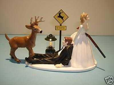 The perfect wedding cake topper for the couple.