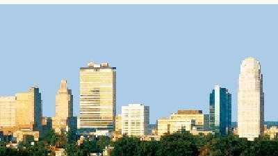 Downtown Winston-Salem Skyline City - 10305808