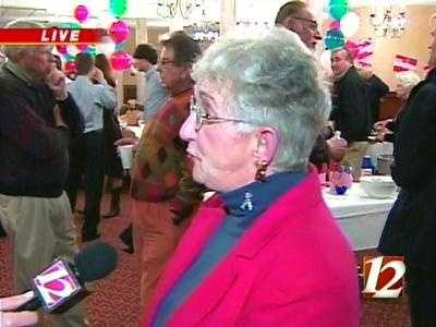 Virginia Foxx talks with WXII 12 News on Tuesday night. She defeated Roger Sharpe in the race for 5th Congressional District.