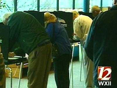 Voters cast their ballots Tuesday in Winston-Salem.