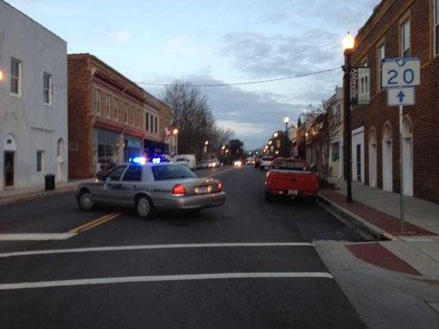 Portions of North Main Street in downtown Abbeville are closed so emergency crews can operate the command post.