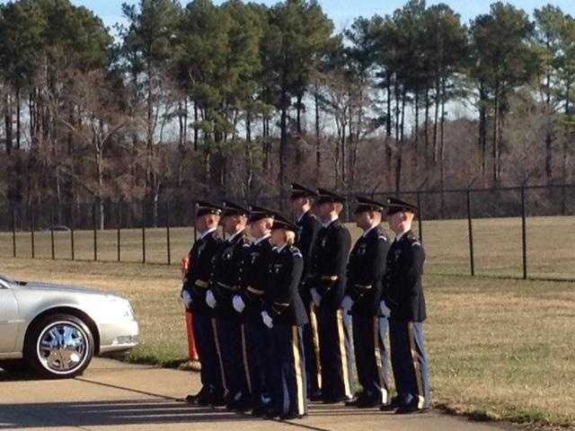 Members of the SC National Guard pay their respects.
