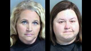 Allyson Shaw Ayers and Sherry Fisher Johnson: Accused of embezzling from magistrate's office