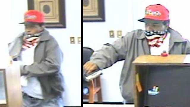 This man was caught on camera robbing the Greenwood Municipal Federal Credit Union.