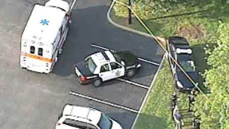 Sky 4 flew over the scene as deputies investigated the suspicious death.