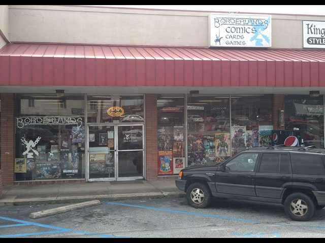 Borderlands Comics is located at 1434 Laurens Road in Greenville