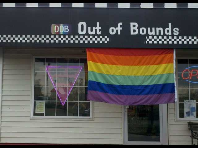 Out of Bounds, located on 21 S. Pleasantburg Drive, is a GLBT book and community store.
