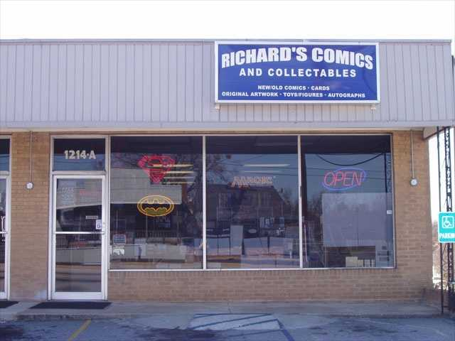 Richard's Comics and Collectables is located at 1214A Laurens Rd. in Greenville.