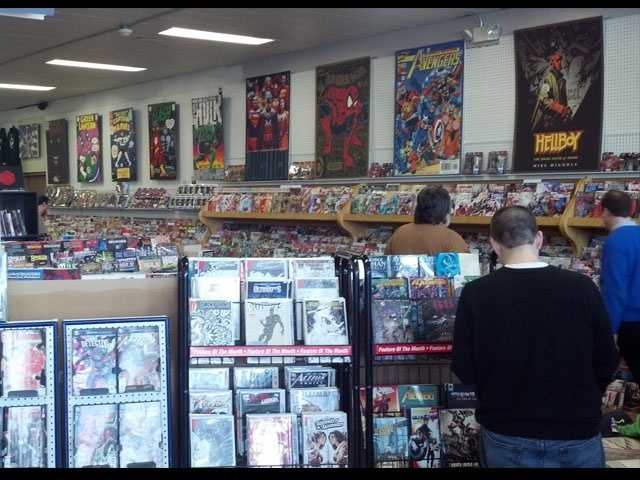Borderlands offers a wide variety of comics and card games.