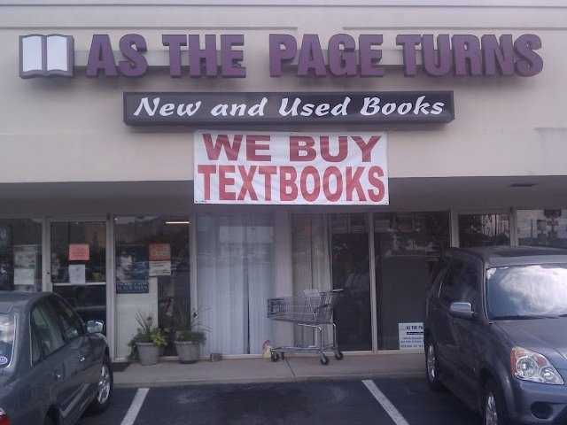 As the Page Turns is located in the Publix shopping center near Furman at 5000 Old Buncombe Rd # 8.