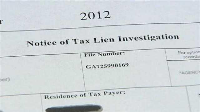 Tax lien scam