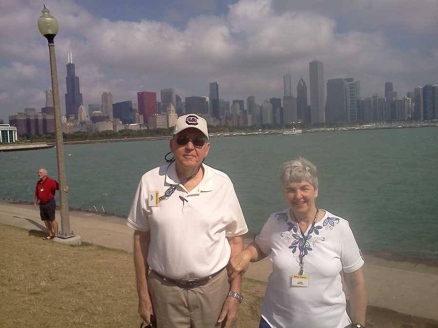 The Menees on Lake Michigan