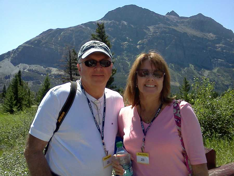 Gwen and Dave in Mountains