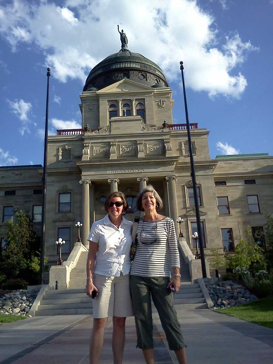 Felicia and Cindy at the Montana State Capital