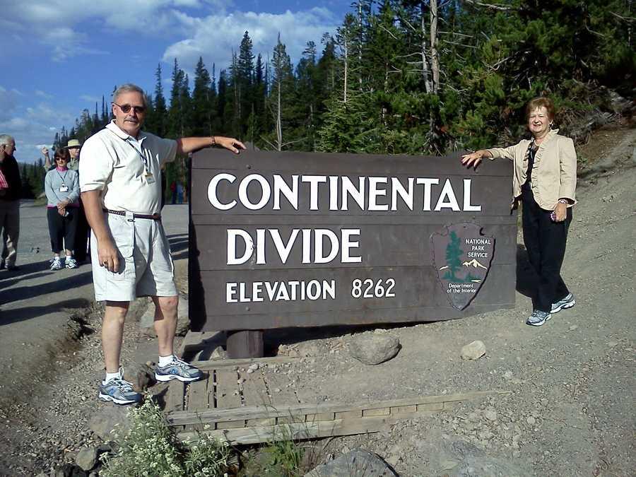 Ray and Sandra at the Continental Divide