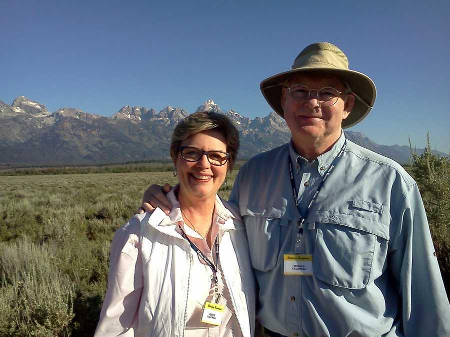 Jennie and Trib at Tetons