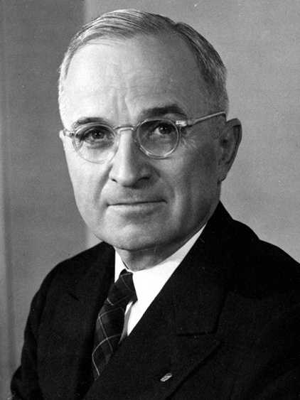 Harry S. Truman -- January 1945 to April 1945 under Franklin D. Roosevelt