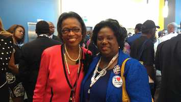 State Representative Chanda Dillard (right) is a Greenville County delegate at the DNC.