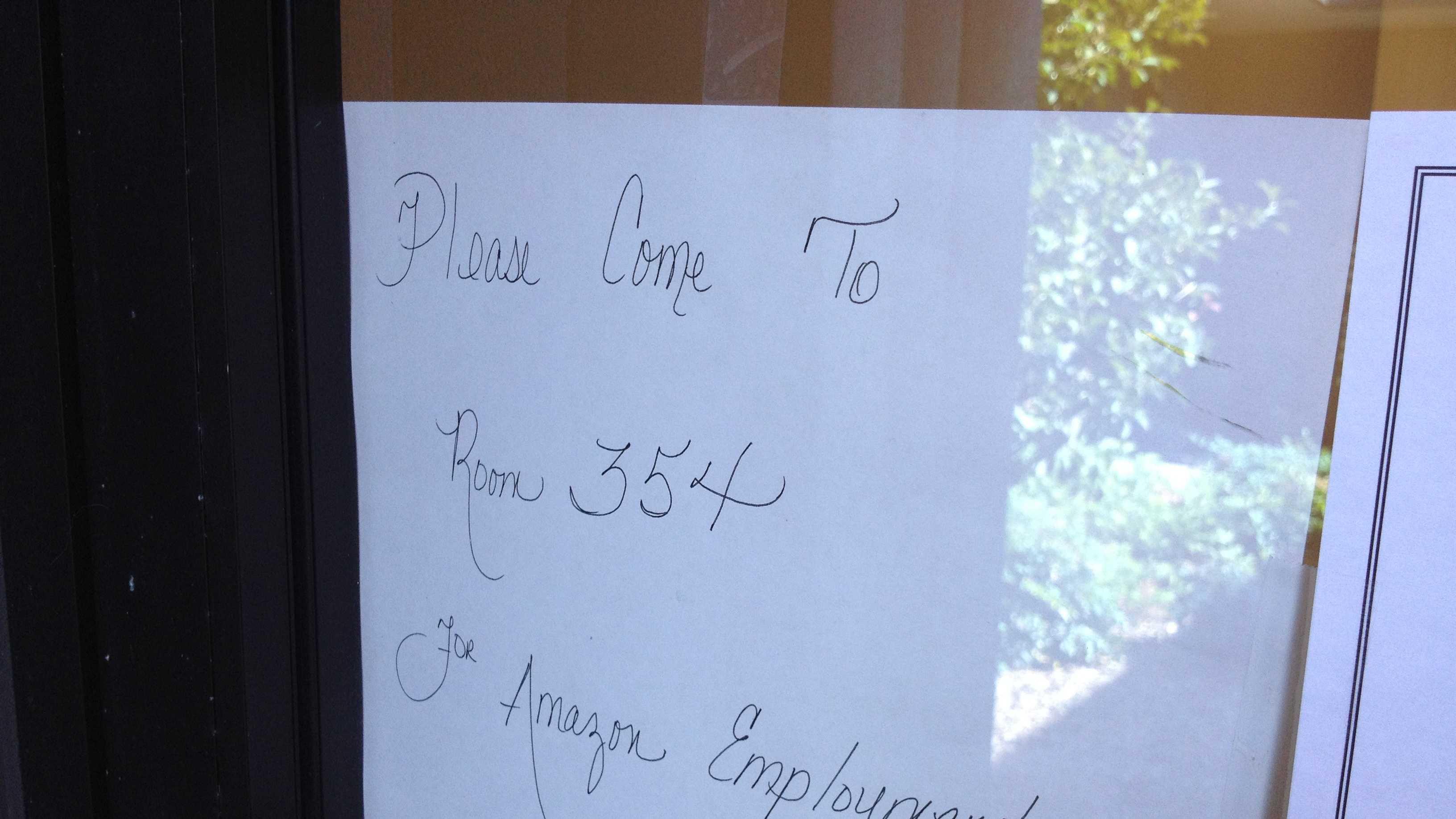 Amazon jobs signs