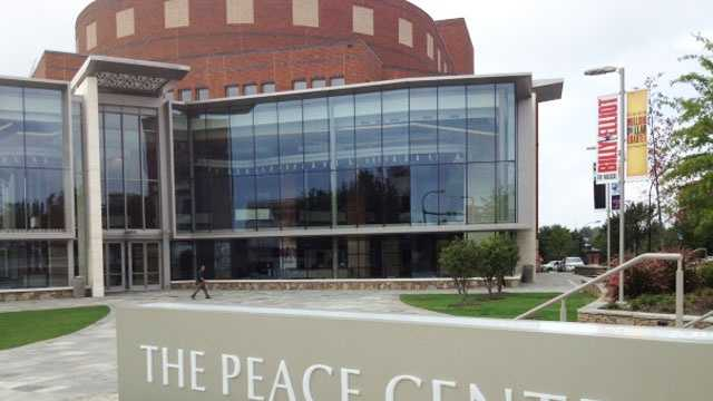 Peace Center: Named for Greenville's Peace family, three branches of which pledged $10 million in memory of Roger C. Peace, B.H. Peace Jr., and Frances Peace Graham. Roger Craft Peace (1899-1968) was a U.S. Senator, trustee of Furman, and a former newspaper publisher. At the time of his death, he was chairman of Multimedia, Inc. The center was opened in 1990 and is built on the former site of three dilapidated factories -- one building wagons for the Confederate Army, a textile plant built in the 1880s, and a building serving as the home for Duke's Mayonnaise.