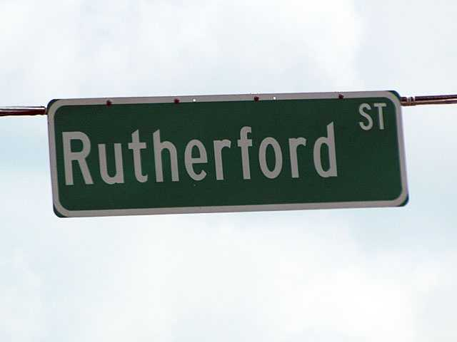 Rutherford Road: Likely named for Griffith Rutherford, leader of an expedition against the Cherokee in 1776, American Revolutionary War general, President of the Legislative Council of the Southwest Territory and political leader in North Carolina.