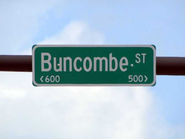 Buncombe Road, etc: Named for Col. Edward Buncombe, a Revolutionary War hero from North Carolina who wintered in Charleston with the Fifth Regiment in 1777 before joining the troops of Gen. George Washington.
