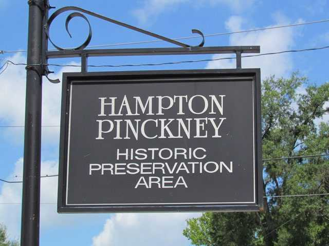 Hampton-Pinckney: Named in part for Vardry McBee's son, Pinckney McBee. Hampton Avenue runs parallel to Pinckney Street, and was likely named for Confederate cavalry leader Wade Hampton III. Hampton-Pinckney emerged as a prominent neighborhood in the early 1900s when the newly established trolley car lines were only one block away.