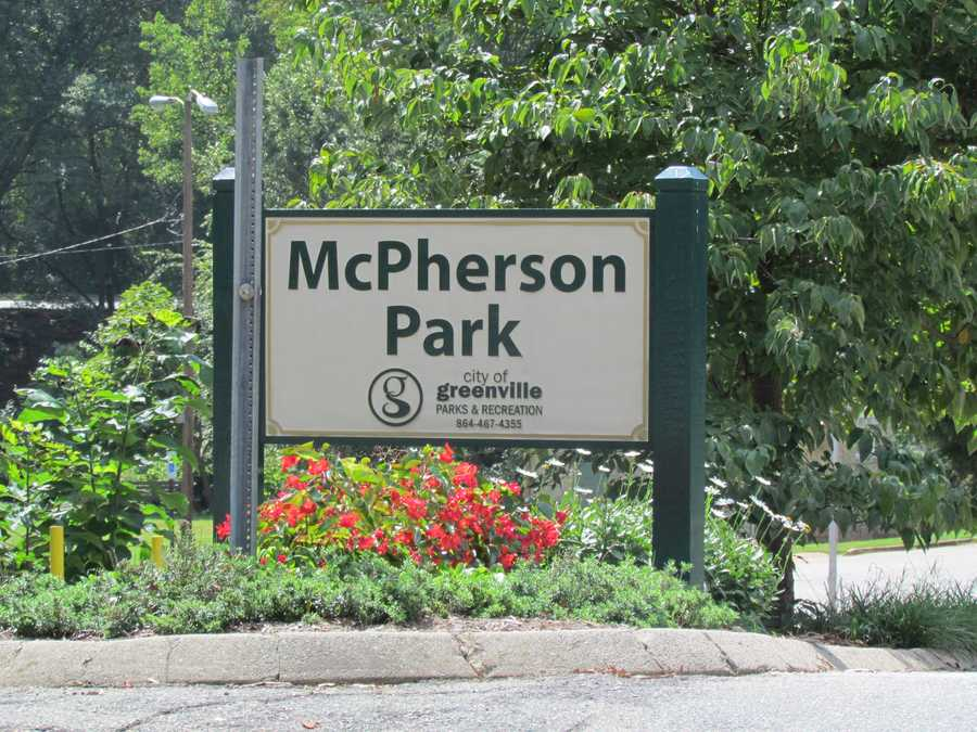 McPherson Park: The park was donated in 1884 and named for Greenville's First Chairman of Park and Tree Commission John A. McPherson in 1910.