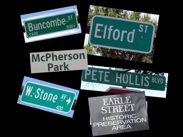 We all drive past lots of street signs every day, but never think of the stories behind the names.  Here's some interesting history on 20+ names in Greenville County.