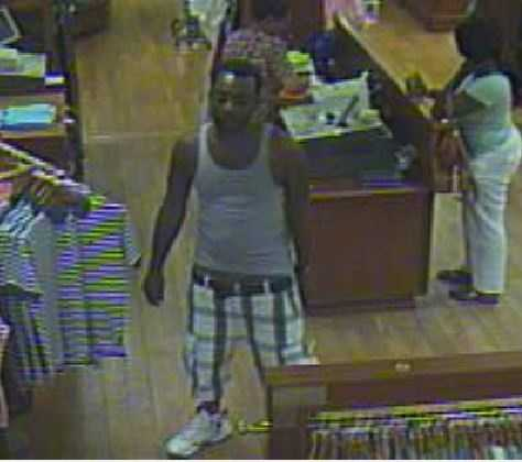 Police say the card was used at Haywood Mall to buy more than $1,000 in merchandise.