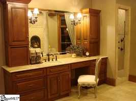The home has six bathrooms.