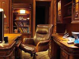 There is a formal office in the home.