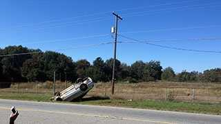 A ULocal user posted this photo of the accident just minutes after it happened near the Jockey Lot in Anderson.