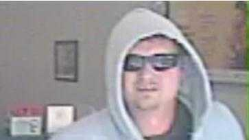 Police said a man robbed the bank on Tuesday at 2:20 p.m.