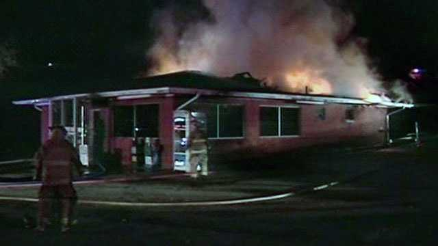 A fire broke out at the Travelers Restaurant on Highway 25 in Travelers Rest early Thursday.