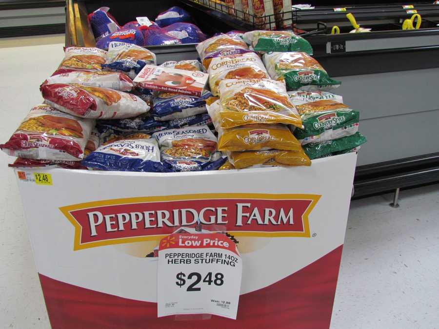 The large bag of Pepperidge Farm stuffing mix is $2.48 per bag.