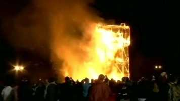 This was the Tiger burn in Columbia Monday night.