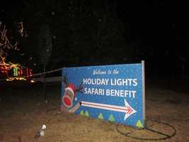 The Holiday Lights Safari at Hollywild Animal Park in Spartanburg County is open from November 17, 2012 through January 5, 2013, (including all holidays).