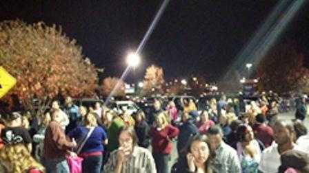 A viewer shared this photo showing hundreds of customers outside Walmart.